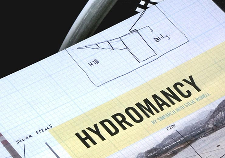 Exhibition catalog design for Hydromancy at the Stanlee & Gerald Rubin Center for the Visual Arts, El Paso, TX