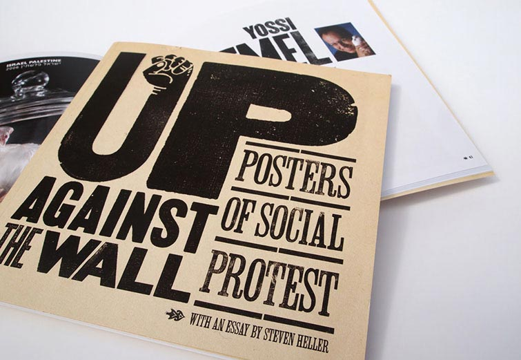 Exhibition catalog design for Up Against the Wall at the Stanlee & Gerald Rubin Center for the Visual Arts, El Paso, TX
