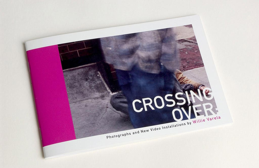 Exhibition catalog design for Crossing Over at the Main Gallery Fox Fine Arts University of Texas at El Paso